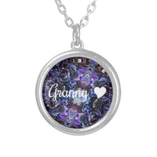 Granny With Heart Silver Plated Necklace