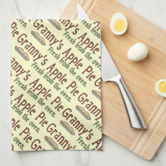 Granny's apple pie kitchen towel