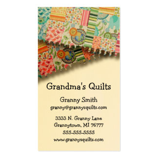 Granny's Quilts Double-Sided Standard Business Cards (Pack Of 100)