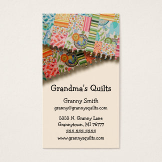 Granny's Quilts Business Card