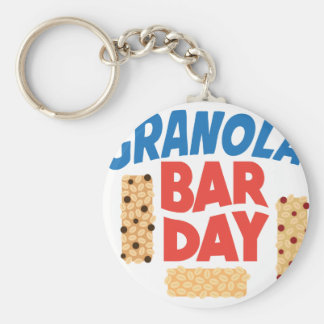 Granola Bar Day - Appreciation Day Basic Round Button Keychain