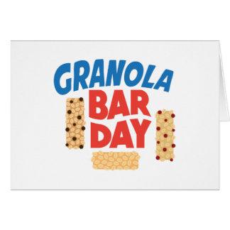 Granola Bar Day - Appreciation Day Card