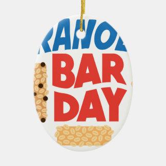 Granola Bar Day - Appreciation Day Ceramic Oval Ornament