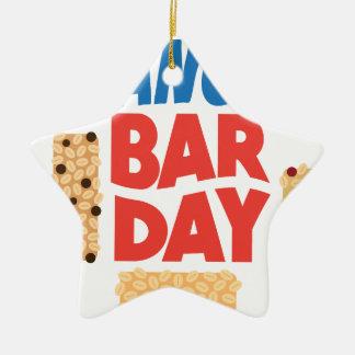 Granola Bar Day - Appreciation Day Ceramic Star Ornament