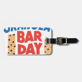 Granola Bar Day - Appreciation Day Luggage Tag