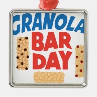 Granola Bar Day - Appreciation Day Metal Ornament