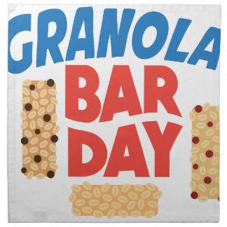 Granola Bar Day - Appreciation Day Napkin