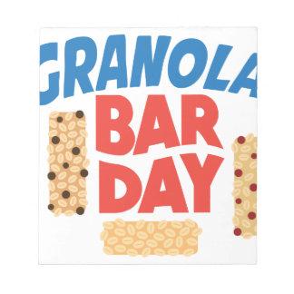 Granola Bar Day - Appreciation Day Notepad