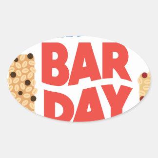 Granola Bar Day - Appreciation Day Oval Sticker