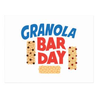 Granola Bar Day - Appreciation Day Postcard