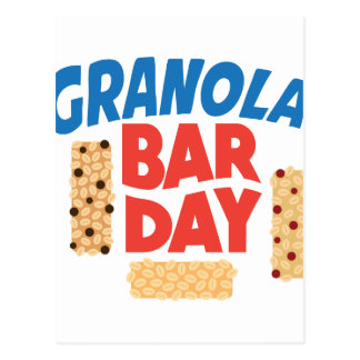 Granola Bar Day - Appreciation Day Postcard