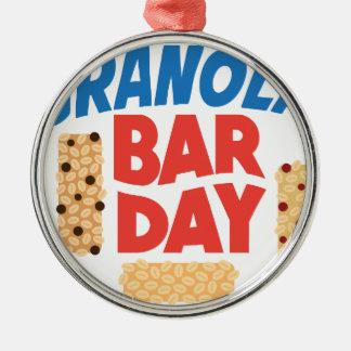 Granola Bar Day - Appreciation Day Silver-Colored Round Ornament