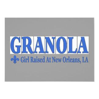 "GRANOLA Blue Tiles 5"" X 7"" Invitation Card"