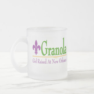 Granola, Girl Raised At NOLa Frosted Glass Mug