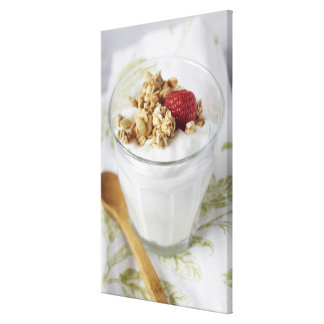 Granola, Oats, Toasted, Fruit, Berry, Raspberry, Stretched Canvas Prints
