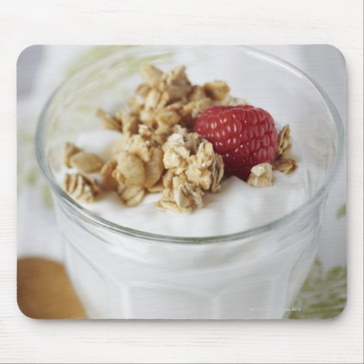 Granola, Oats, Toasted, Fruit, Berry, Raspberry, Mousepads
