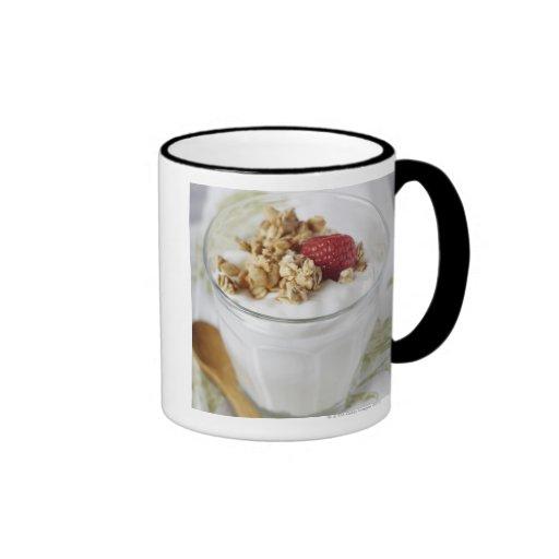 Granola, Oats, Toasted, Fruit, Berry, Raspberry, Coffee Mug