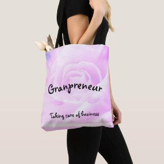 Granpreneur floral design tote bag