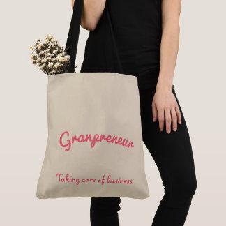 Granpreneur flower mandala design tote bag