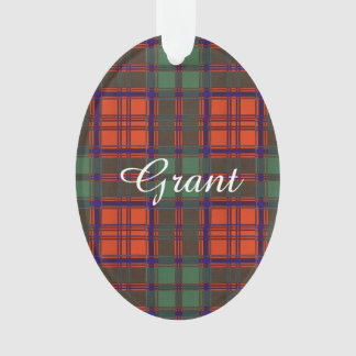 Grant clan Plaid Scottish tartan Ornament
