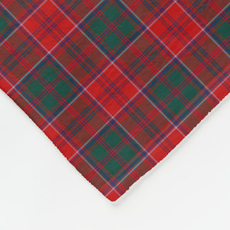 Grant Clan Red, Green and Blue Tartan Fleece Blanket