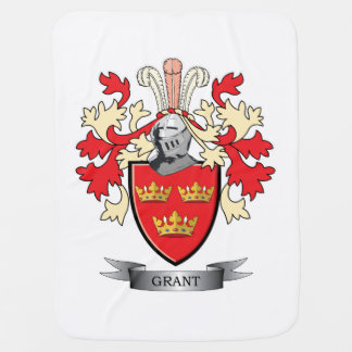 Grant Family Crest Coat of Arms Baby Blanket