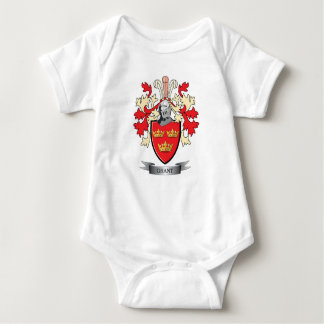 Grant Family Crest Coat of Arms Baby Bodysuit