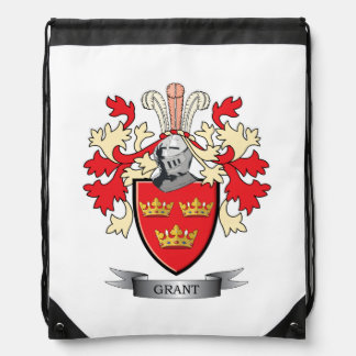 Grant Family Crest Coat of Arms Drawstring Bag