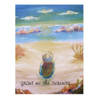 """grant me the serenity..."" - art print postcard. postcard"
