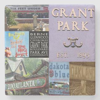 Grant Park Atlanta Collage Coasters