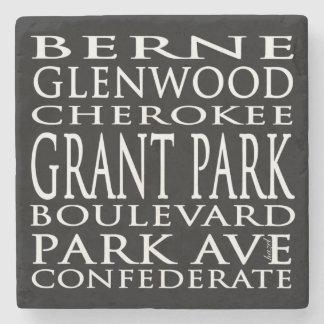 Grant Park, Atlanta, Georgia, Streets, Coasters Stone Coaster