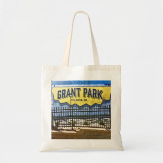 Grant Park, Atlanta, Welcome, Tote Bag