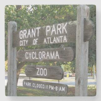 Grant Park, Atlanta, Wooden Sign, Coasters Stone Beverage Coaster
