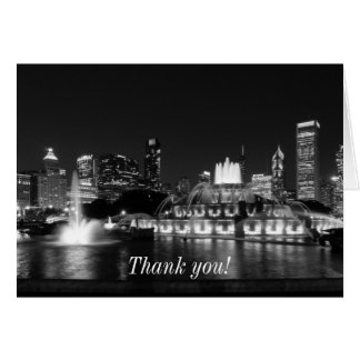 Grant Park Chicago Grayscale Card