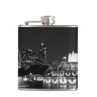 Grant Park Chicago Grayscale Hip Flask