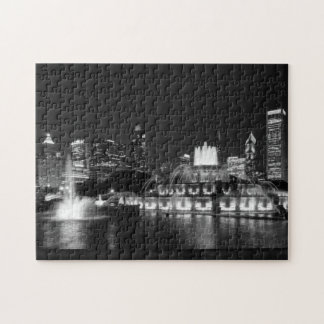 Grant Park Chicago Grayscale Jigsaw Puzzle