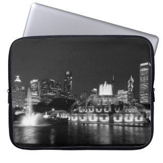 Grant Park Chicago Grayscale Laptop Sleeve