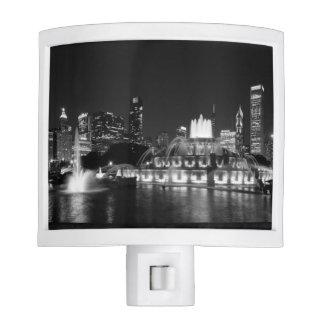 Grant Park Chicago Grayscale Nite Light