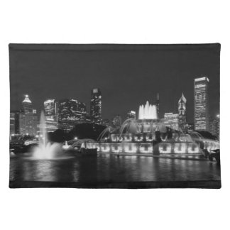 Grant Park Chicago Grayscale Placemat