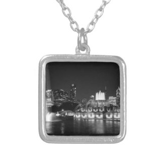 Grant Park Chicago Grayscale Silver Plated Necklace