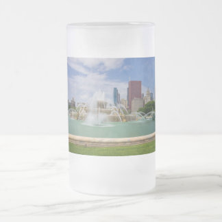Grant Park City View Frosted Glass Beer Mug