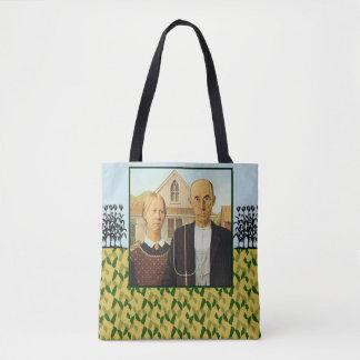 Grant Wood AMERICAN GOTHIC 1930 Tote Bag