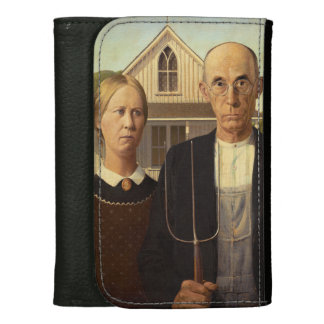 Grant Wood American Gothic Fine Art Painting Wallets