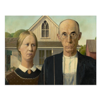 Grant Wood - American Gothic Postcard