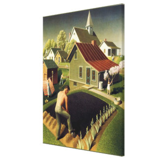 Grant Wood - Spring in Town Canvas Print