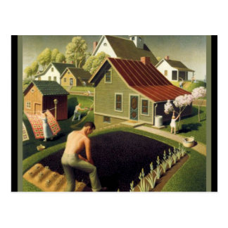 Grant Wood - Spring in Town Postcard