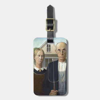 Grant Wood's American Gothic Luggage Tag