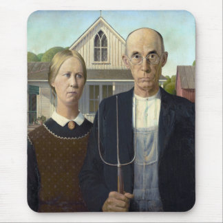 Grant Wood's American Gothic Mouse Pad