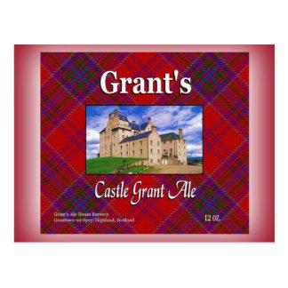Grant's Castle Grant Ale Postcard