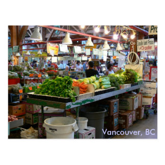 Granville Market - Vancouver BC Postcards